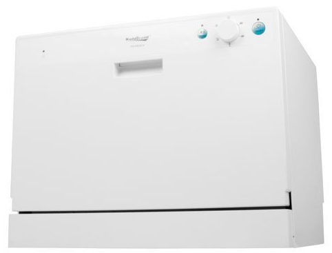 Koldfront 6 Place Setting Countertop Dishwasher white